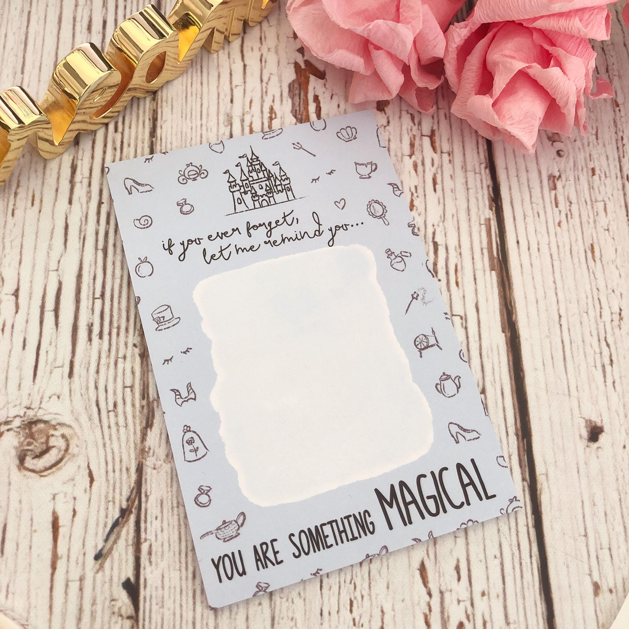 "You Are Something Magical // 4x6"" Sticky Note Pad (Anni Blue Sticky)"