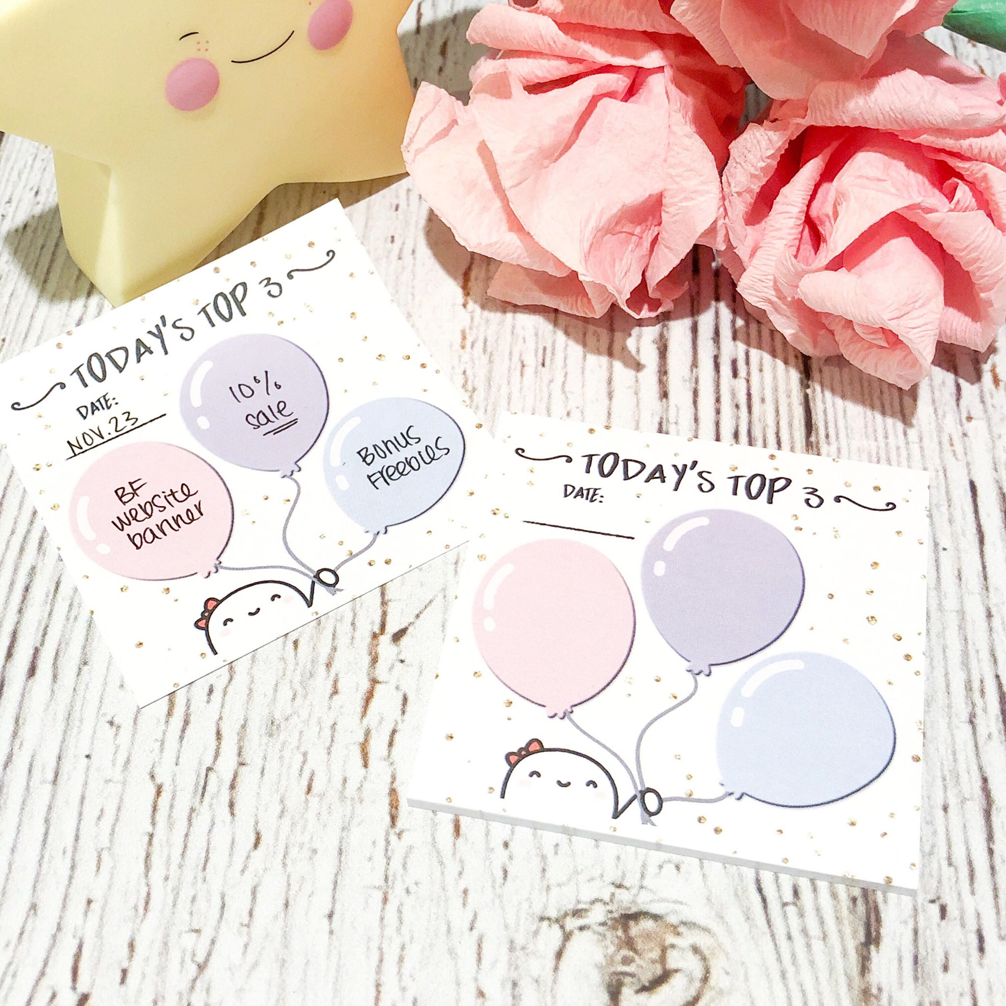 "Top 3 // 3x3"" Sticky Note Pad (Sticky Note - Top 3)"