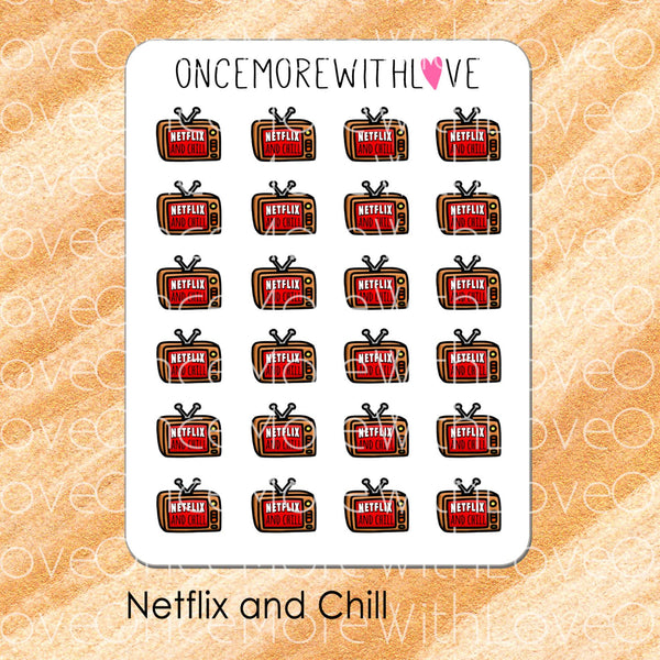 Netflix and Chill Planner Stickers (V115)