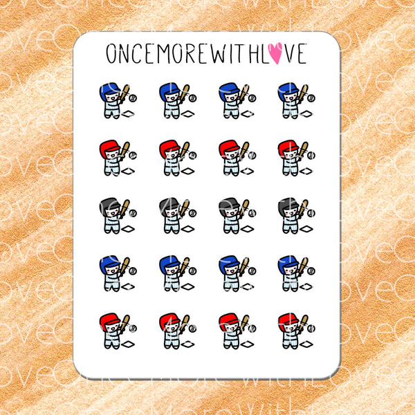 Munchkins - Baseball Softball Practice or Game Planner Stickers (M191)