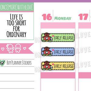 Munchkins - Back to School! Rainbow Early Release School Planner Stickers (M308)