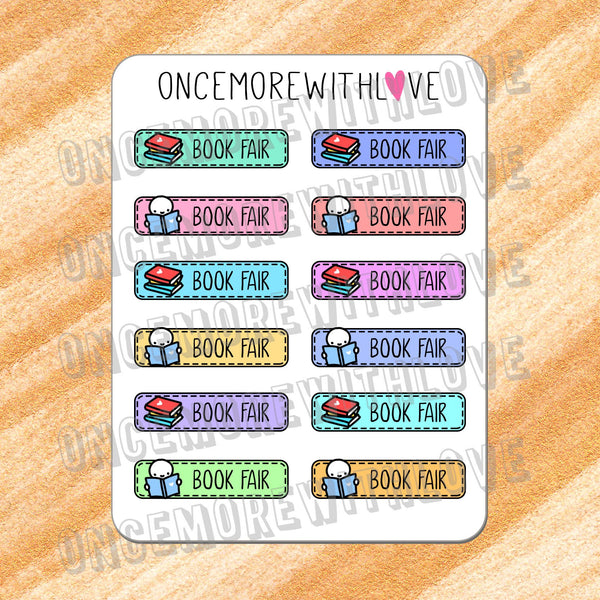 M310 - Back to School! Rainbow School Book Fair Munchkin Planner Stickers (FINAL STOCK)