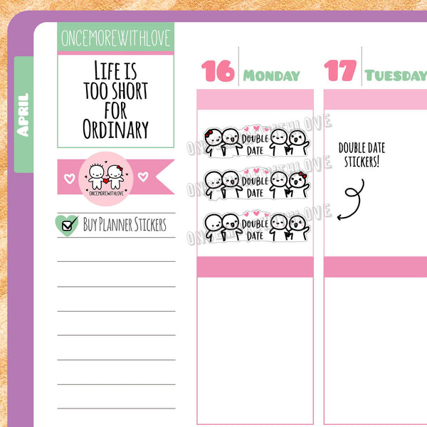M386 - Date Night Double Date Munchkin Planner Stickers