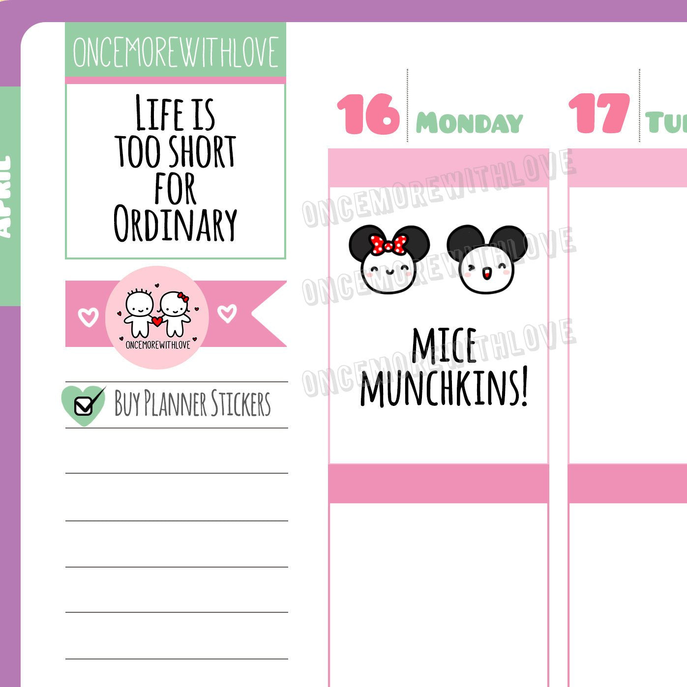 M422 - Magical Mice Munchkin Planner Stickers
