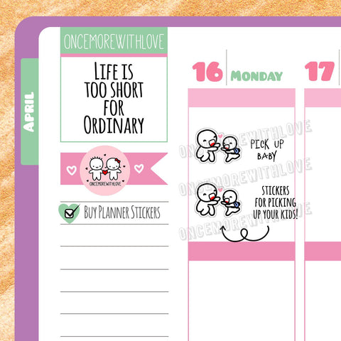 M318 - Mom Life Pick Up Kids Munchkin Planner Stickers