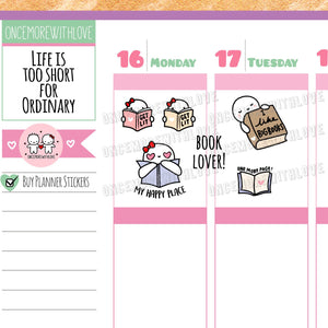 M423 - Get Lit Reading Book Lover Munchkin Planner Stickers