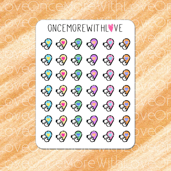 M106 - Geotag Location Place Marker Munchkin Planner Stickers