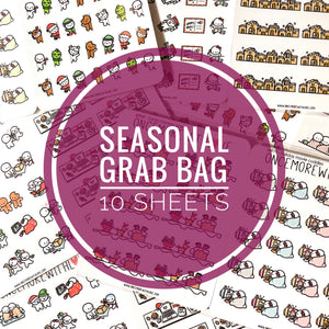 *SEASONAL* Grab Bag - 10 Sheets of Assorted Seasonal Planner Stickers! (GRAB - 10)