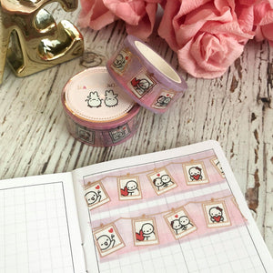 POLAROID MEMORIES 2.0 // 20mm Washi Tape with Rose Gold Foiling (POLAROIDS) (FINAL STOCK)