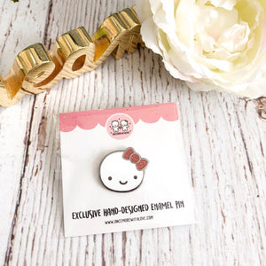 PIN - Munchkin // Silver Nickel Plated Hard Enamel Lapel Pin with Red Glitter