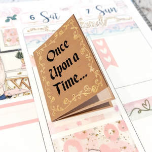 V145 - Once Upon a Time Story Book Foldover Planner Sticker