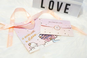 Rose Gold Foiled Gift Pockets for Stickers (WM - Pockets)