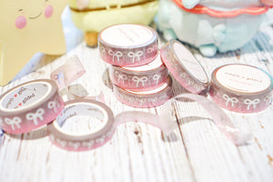 Silver Linings // Simply Gilded Collaboration Washi Set with Silver Foiled Bows (WM - Washi)