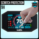 Speedo Angels TRIUMPH Street Triple 765 R/RS 2017+, Speed Triple S/RS 2018+, Tiger 800/1200 2018+ Nano Glass Dashboard Screen Protector (2 x Ultra-Clear)