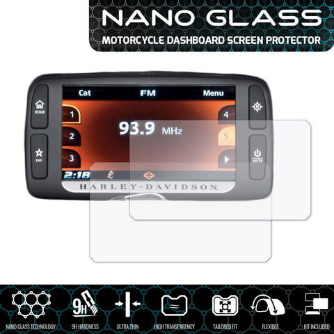 Speedo angels harley davidson boom! Box 6.5gt nano glass dashboard screen protector (2 x ultra-clear)