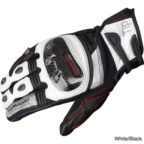 Komine Protect Leather Motorcycle Gloves Guren (GK-193)