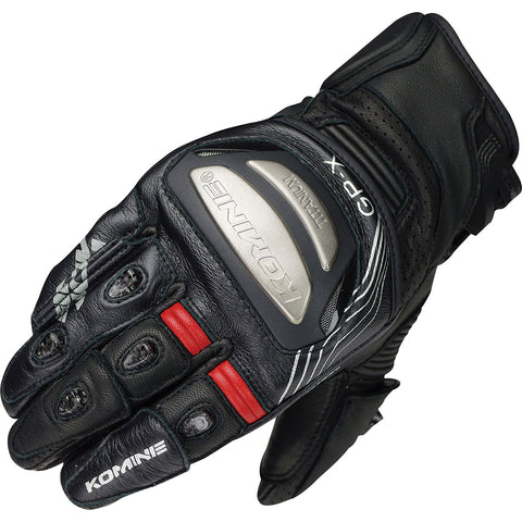 Komine Titanium Racing Gloves Short (GK-213)