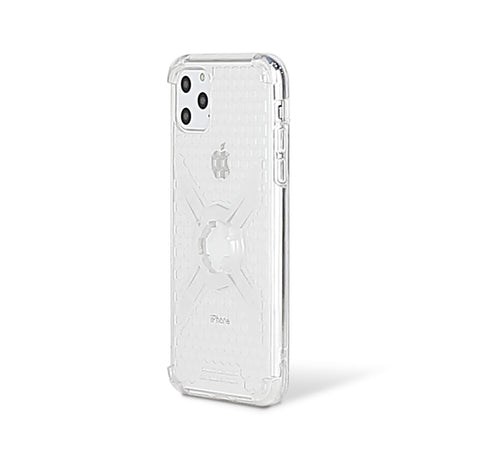 Cube-Intuitive IPhone 11 Pro Max/XS Max X-Guard, Clear Grey Bones Infinity mount Cover. (MA17-0018)