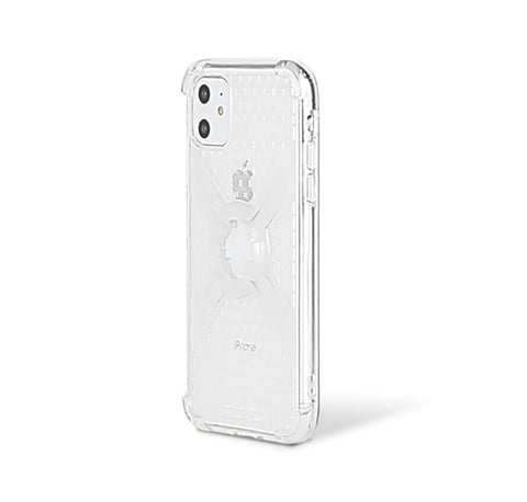 Cube-Intuitive IPhone 11/XR X-Guard, Clear Grey Bones Infinity mount Cover. (MA15-0018)