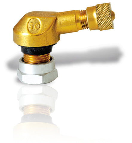 Ariete Tubeless Valves Pair - 11.3 mm Diameter (11970-GOLD)