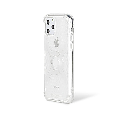Cube-Intuitive IPhone 11 Pro/X/XS X-Guard, Clear Grey Bones Infinity mount Cover. (MA16-0018)