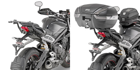GIVI Rear Rack for Street Triple 765 (17-20) for Monolock/Monokey topcase (6412FZ)