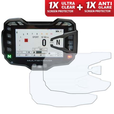Speedo Angels Dashboard Screen Protectors For Ducati Multistrada 950/1200/1260 2015+ (1xultraclear + 1xantiglare)