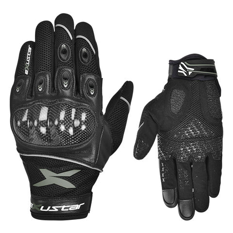 Exustar Motorcycle Gloves Grey (E-MG223-GY)