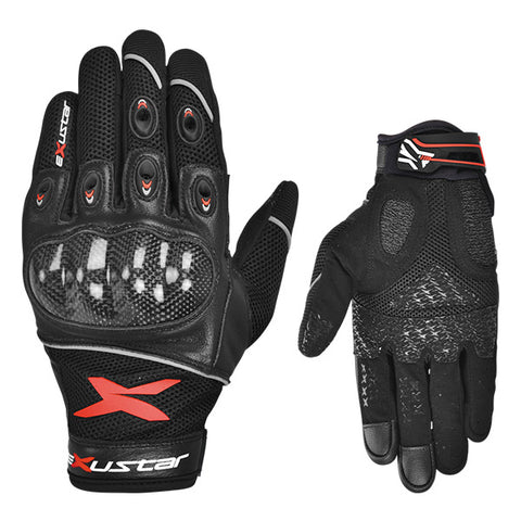 Exustar Motorcycle Gloves Red (E-MG223-RD)