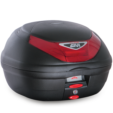 GIVI 35ltr. Monolock® Topcase Black with Red Reflector (E350N)