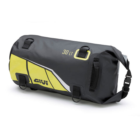 GIVI Waterproof Cylinder Tail Bag 30ltr Black/Yellow (EA114BY)