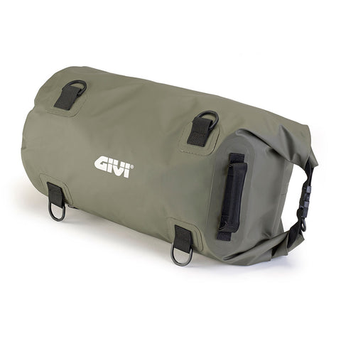 GIVI Waterproof Cylinder Tail Bag 30ltr Khakhi Green (EA114KG)