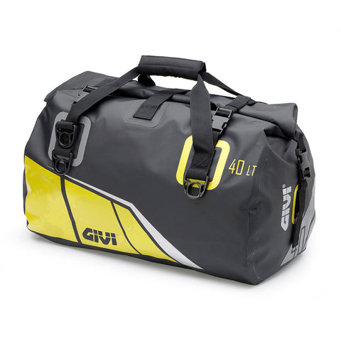 GIVI Waterproof Cylinder Tail Bag 40ltr Black/Yellow (EA115BY)