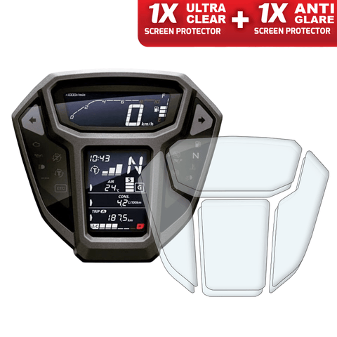 Speedo Angels Dashboard Screen Protectors For Honda Crf1000l Africa Twin 2015-2017 (1xultraclear + 1xantiglare)