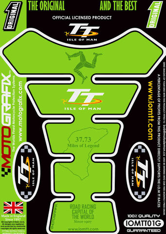 Motografix Isle Of Man TT Races Official Licensed Tank Pad (IOMTT01G)