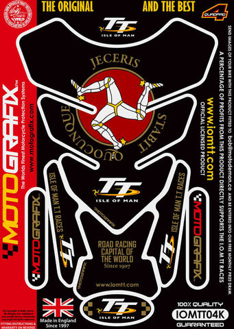 Motografix Isle Of Man TT Races Official Licensed Tank Pad