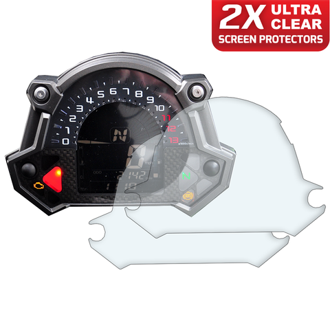 Speedo Angels Dashboard Screen Protectors For Kawasaki Z650 2017+ / Z900 2017+ (2xultraclear)
