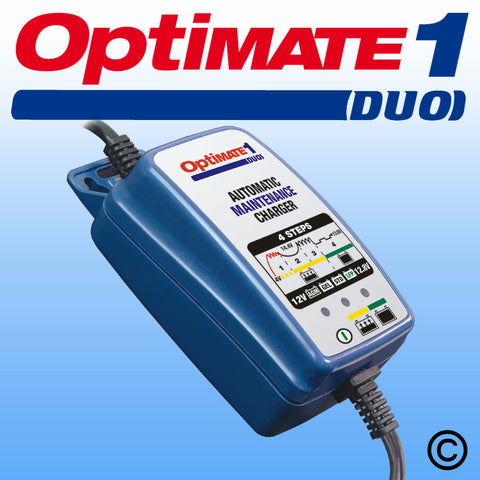 Optimate 1 Duo Automatic Battery Charger 12V (LeadAcid/Lithium Ion) (TM402D)
