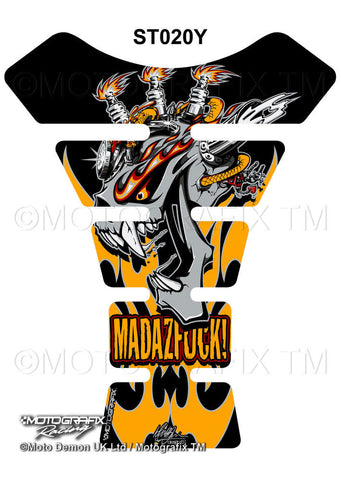Motographix Street Tankpad Mad as Yellow (ST020Y)