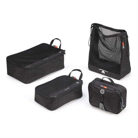 GIVI 4 pieces Travel Set Organiser for Tail/Saddle Bags / Top Cases (T518)