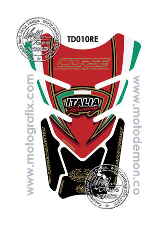 Motographix Ducati Red Italia Tricolour Motorcycle Tank Pad Protector