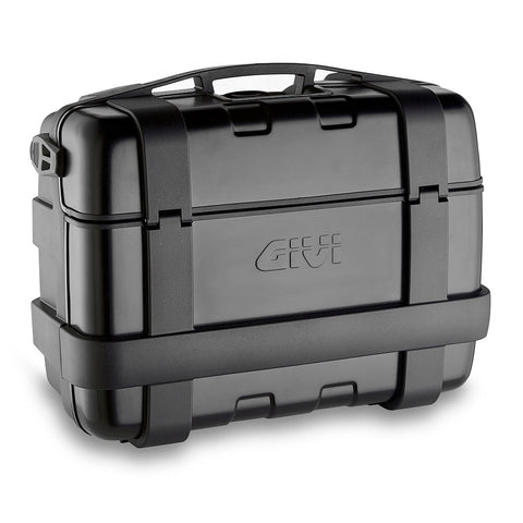 GIVI Trekker Black Line 33ltrs Top/Side Cases with Aluminium finish Pair (TRK33BPACK2)