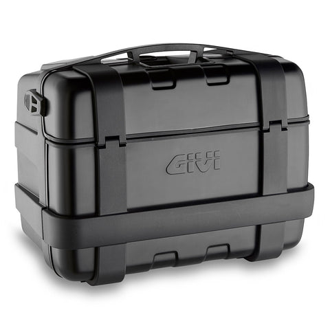 GIVI Trekker Black Line 46ltrs Top/Side Cases with Aluminium finish Pair (TRK46BPACK2)