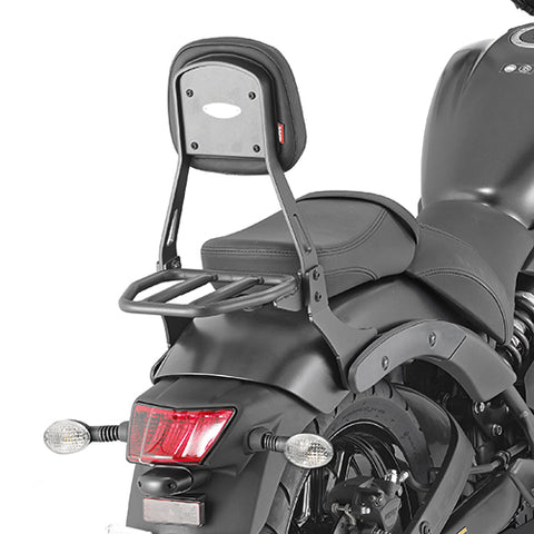 GIVI Backrest w/Detachable small Carrier for Kawasaki Vulcan S650 (TS4115B)