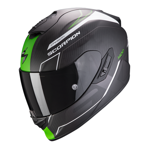 Scorpion Exo-1400 Carbon Air Beaux White Green (14-310-257)
