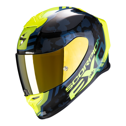 Scorpion Exo-R1 Air Ogi Black-Hi-Viz Yellow Blue (10-292-141)