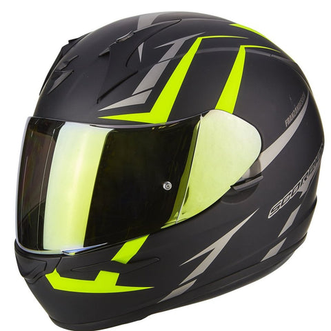 Scorpion Exo-390 Hawk Matt Black- Hi-Viz (39-264-157)