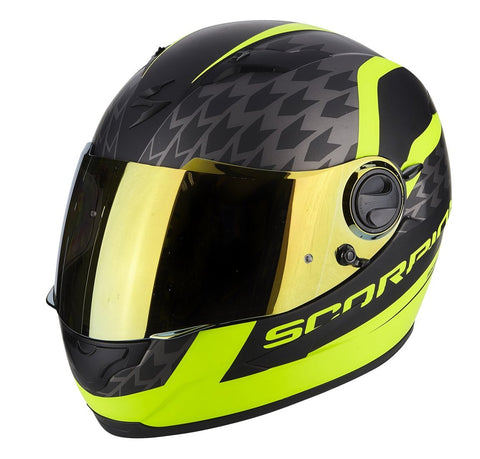 Scorpion Exo-490 Genesi Matt Black-Hi Viz Yellow (49-257-157)