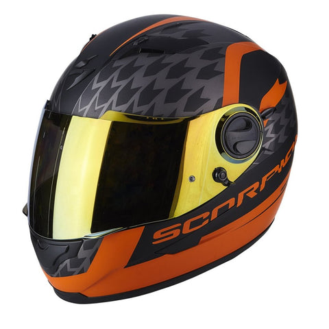 Scorpion Exo-490 Genesi Matt Black Orange ( 49-257-168 )