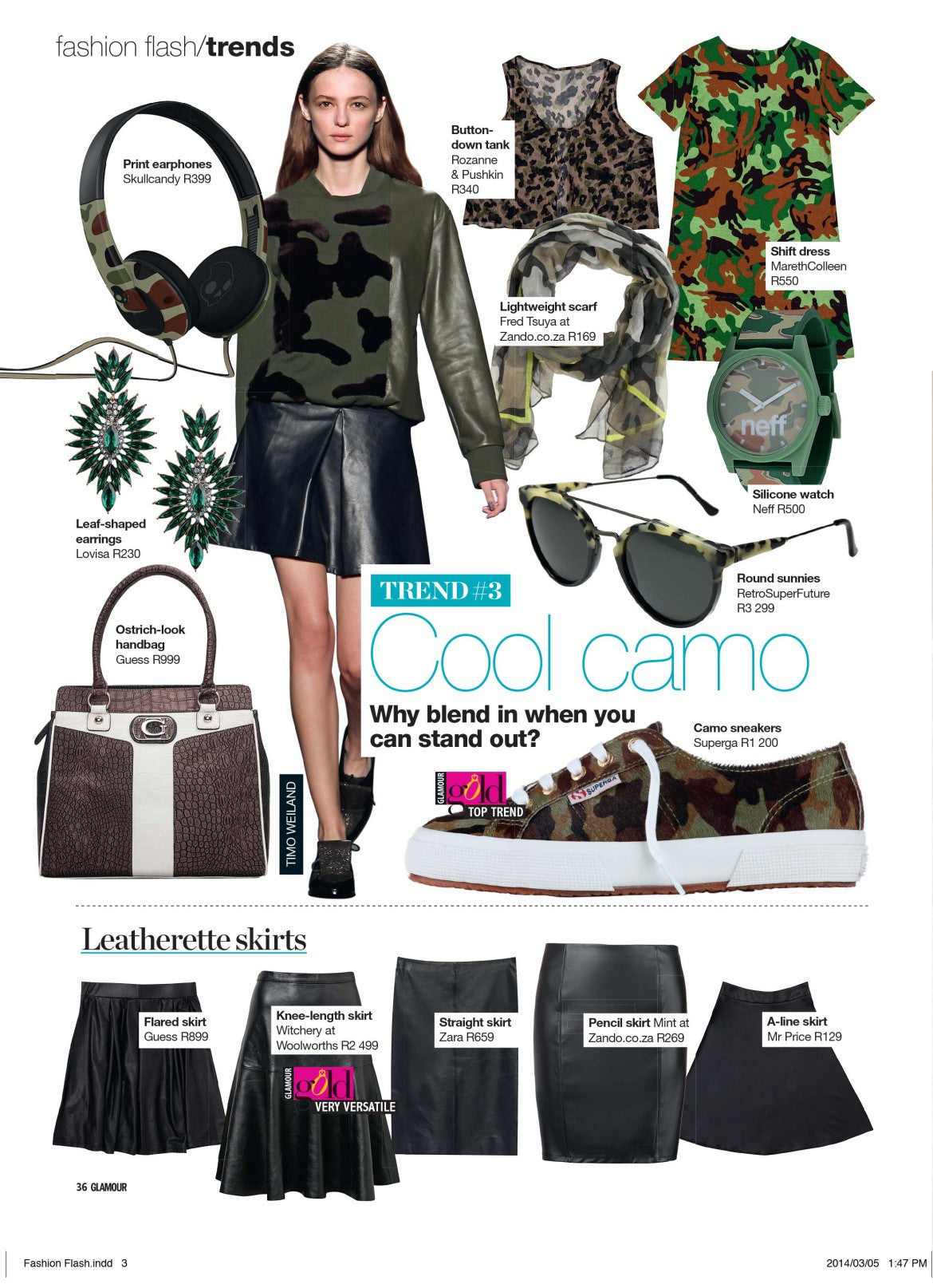 Media: The Camo Shift Features in Glamour Magazine
